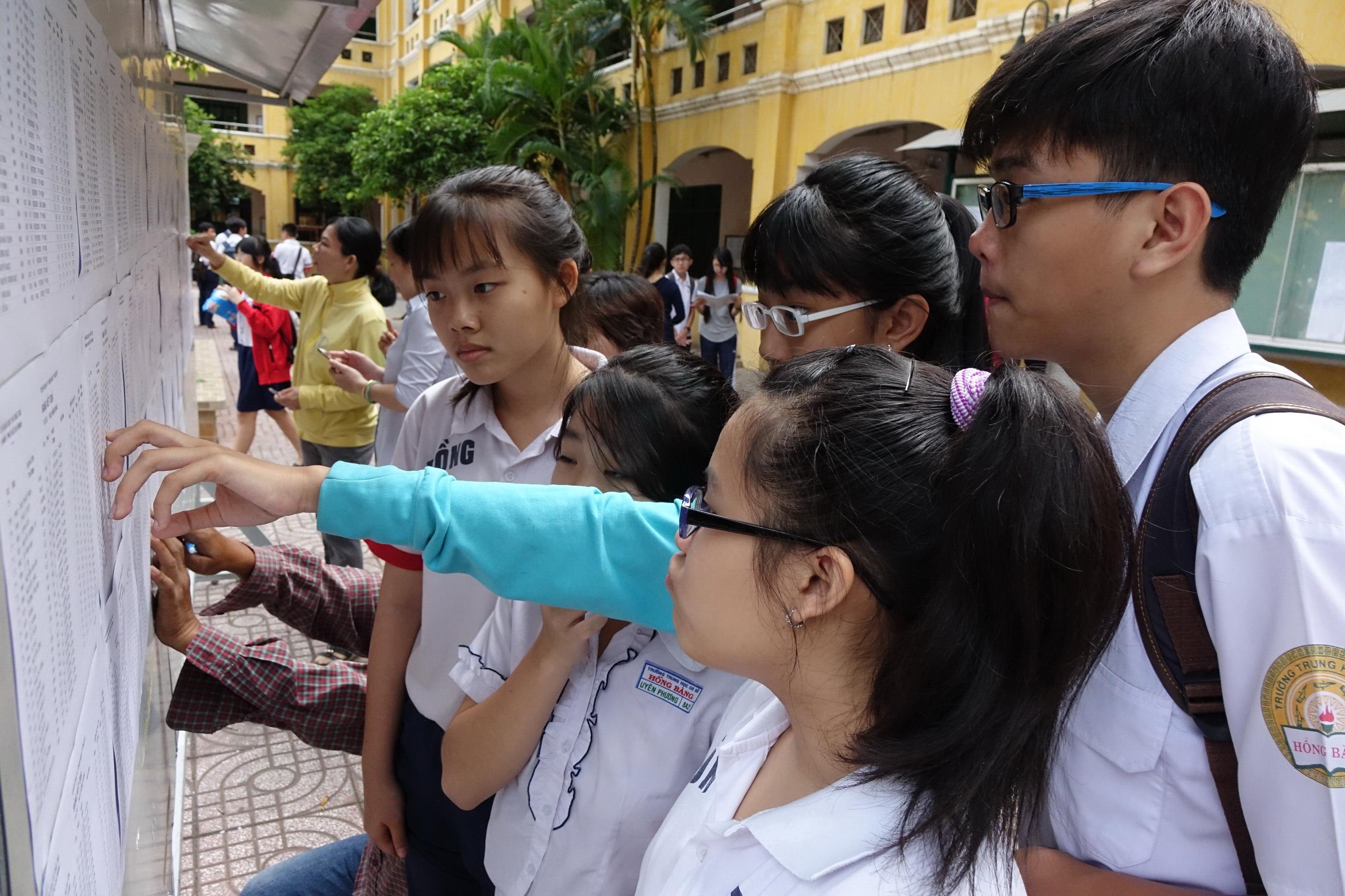 Sở GD-ĐT Hà Nội công bố điểm thi vào 10 năm học 2017 - 2018