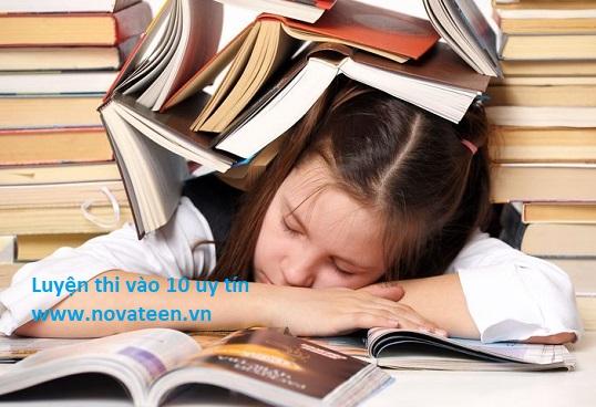 Học sinh cấp 2 hiện nay đang phải ôm khối lượng kiến thức khổng lồ để luyện thi vào 10