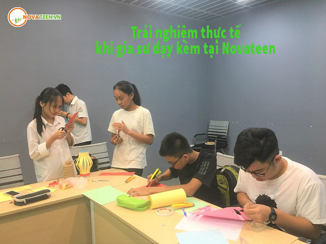 Nhiều hoạt động thực tế trải nghiệmkhi gia sư dạy kèm tại Novateen
