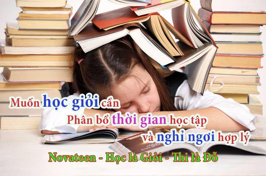 Muốn học giỏi cần phân bổ thời gian học và nghỉ ngơi hợp lý