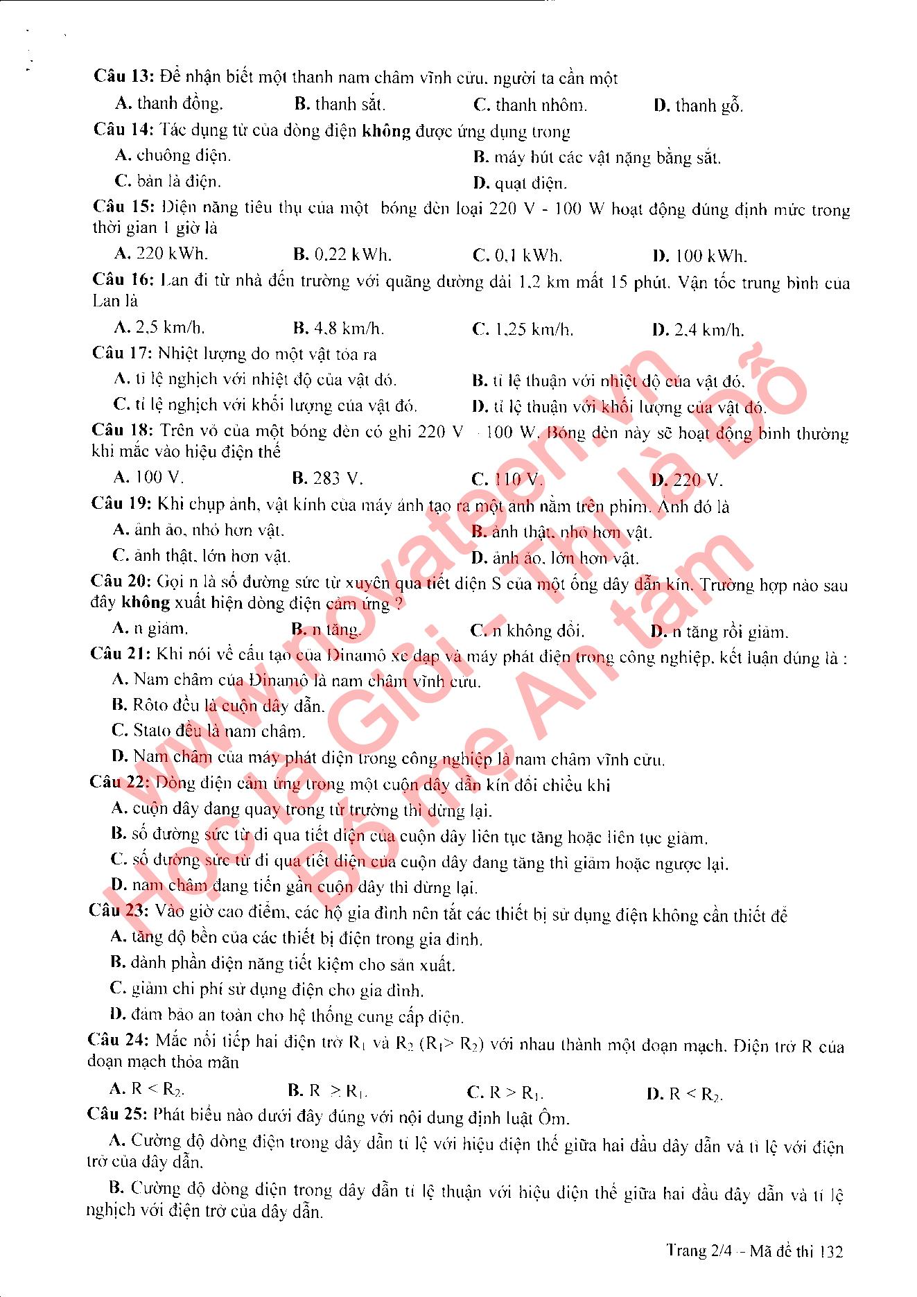 đề thi tham khảo vào lớp 10