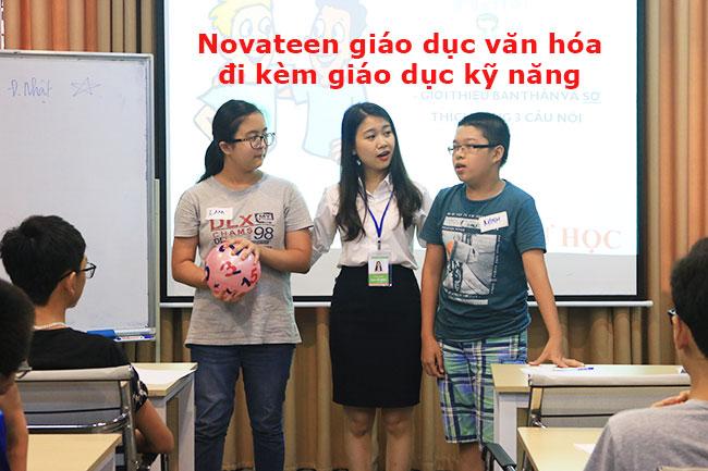 Novateen áp dụng mô hình giáo dục hiện đại khi vừa kết hợp đào tạo văn hóa và kỹ năng mềm