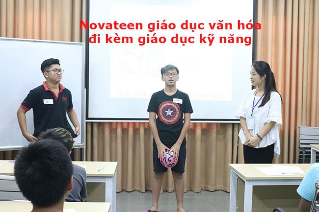 Novateen luôn kết hợp giáo dục văn hóa và đào tạo kỹ năng mềm
