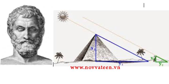 Thales - Người đầu tiên áp dụng toán học đo chiều cao kim tự tháp Ai Cập