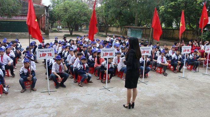 Trường THCS Đa Lộc thuộc địa phương nghèo của huyện An Thi tỉnh Hưng Yên