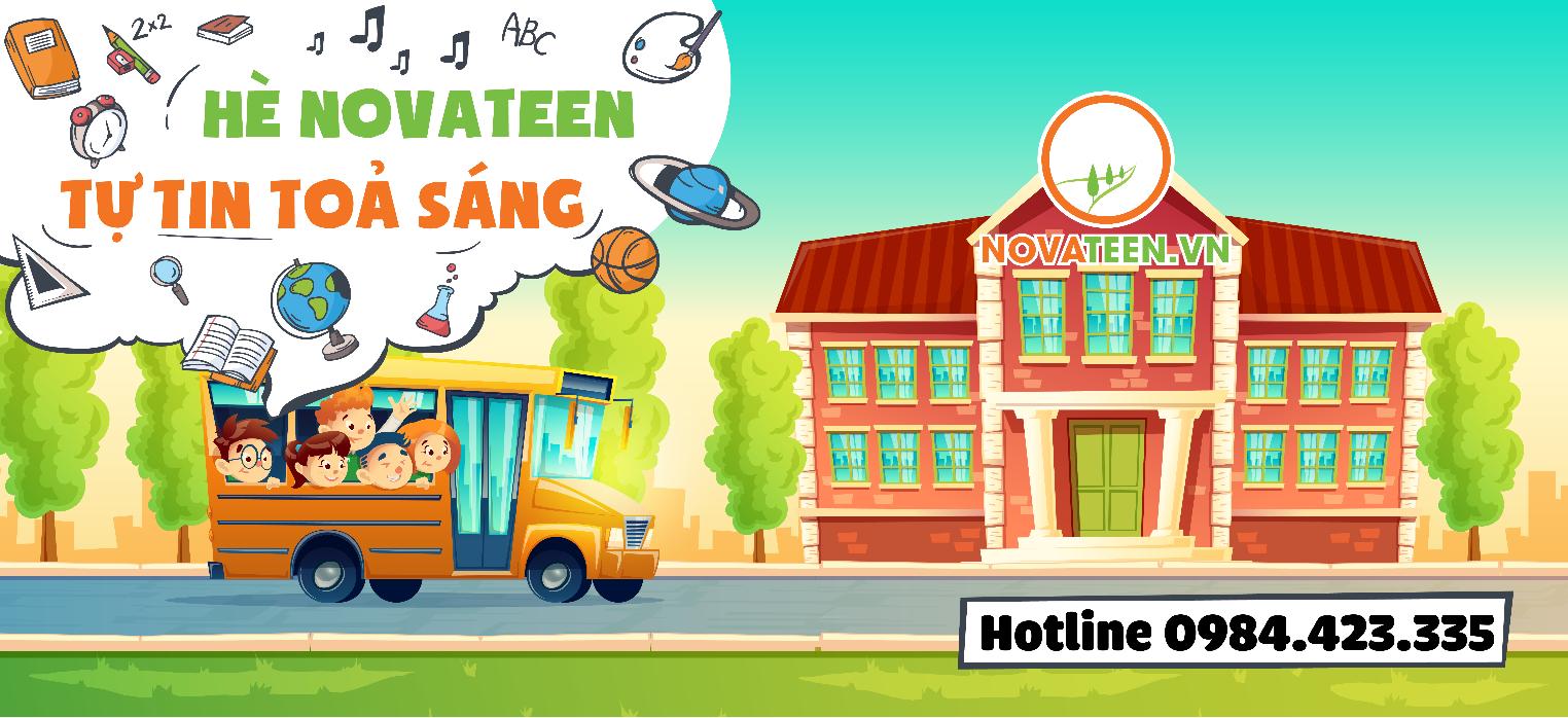 Học hè bán trú tại Novateen giúp con bạn có một mùa hè trọn vẹn.