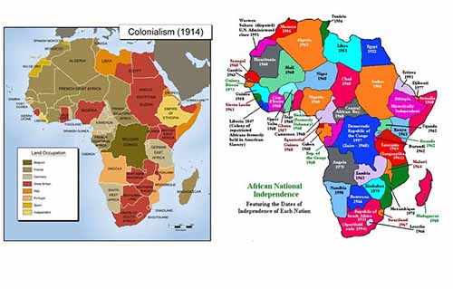 Bản đồ các nước Châu Phi năm 1945