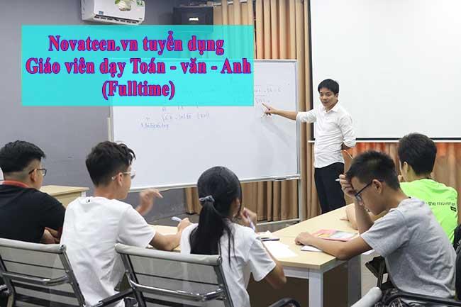 Tuyển dụng giáo viên dạy Toán - văn - Anh