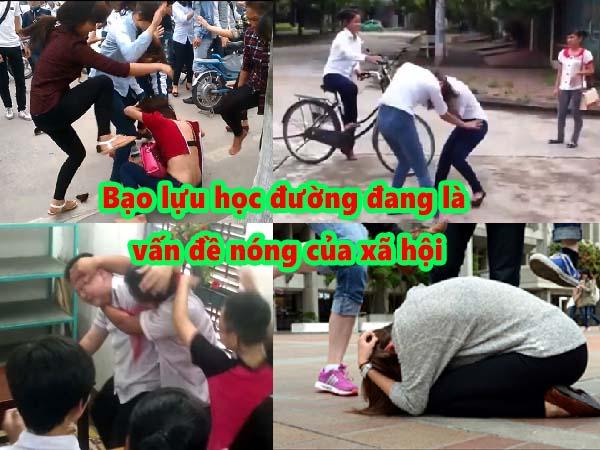 Bạo lực học đường đang là vấn đề nóng của xã hội