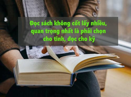 Đọc sách cốt không lấy nhiều