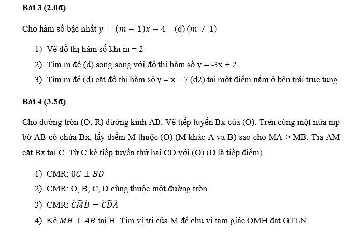 Đề thi học kì 1 toán 9